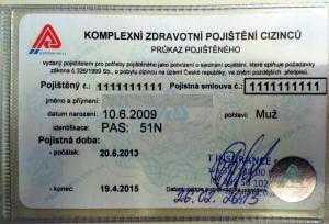průkaz komplexního zdravotního pojištění cizinců